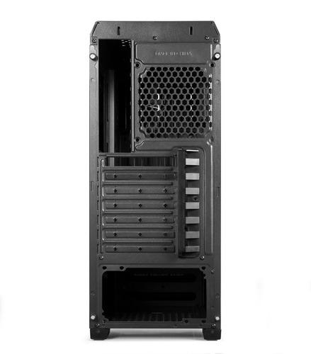 gabinete atx shure sin fuente para pc. 2 puertos usb + audio