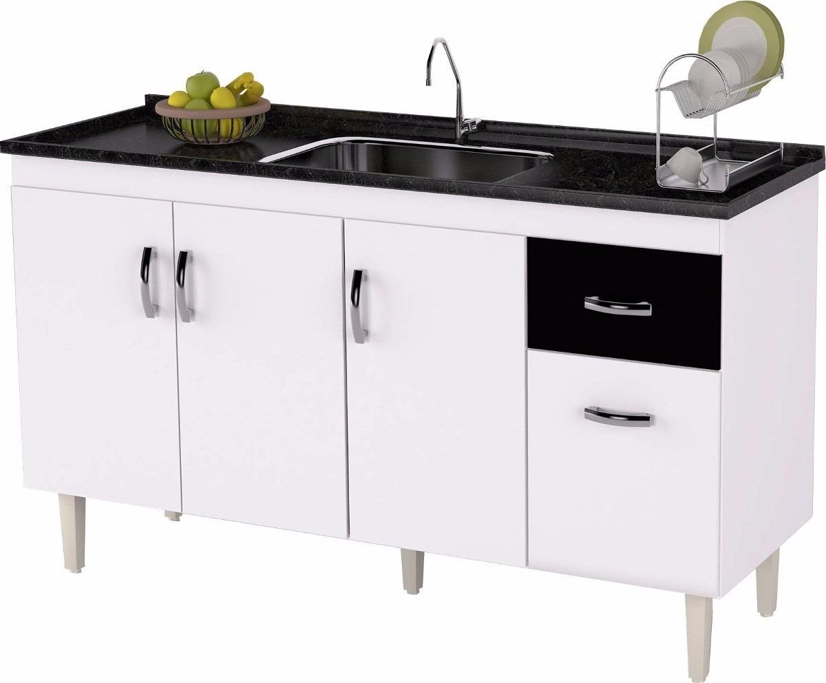 Gabinete Balc O De Pia Cozinha 1 50 Sem Pia Pronta Entrega R  ~ Balcão Com Pia Para Cozinha