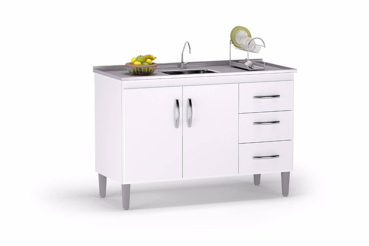 Gabinete Balc O De Pia Para Cozinha De 1 20 M Sem Pia R 243 89  ~ Balcão Com Pia Para Cozinha