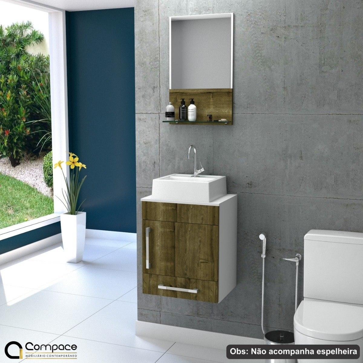 Gabinete Banheiro Prisma Uv Balcão Cuba Q32 Frete Grátis
