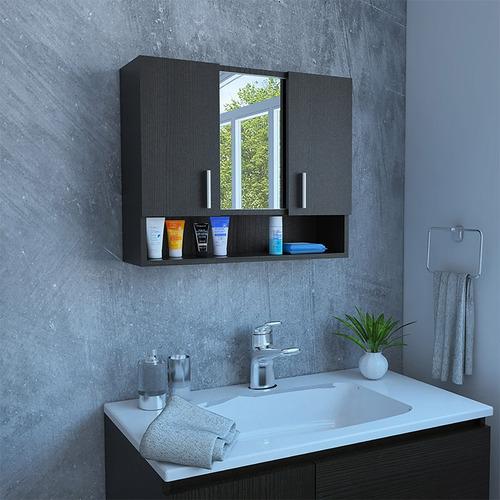 gabinete baño espejo spa wengue