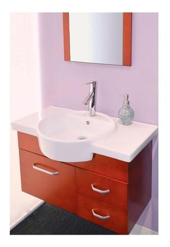 gabinete baño lavabo minimalista espejo gb 2058 54a gravita