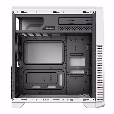 gabinete blanco mid tower pc gamer gamemax g561 3 cooler