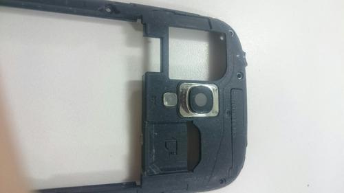 gabinete carcaça lente câmera samsung galaxy s3 mini i8190