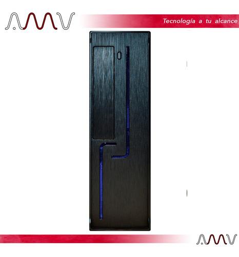 gabinete coolmax s206r fuente 250w con luz led amv
