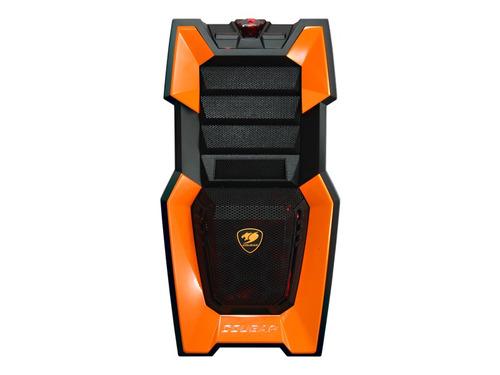 gabinete cougar gamer challenger naranja