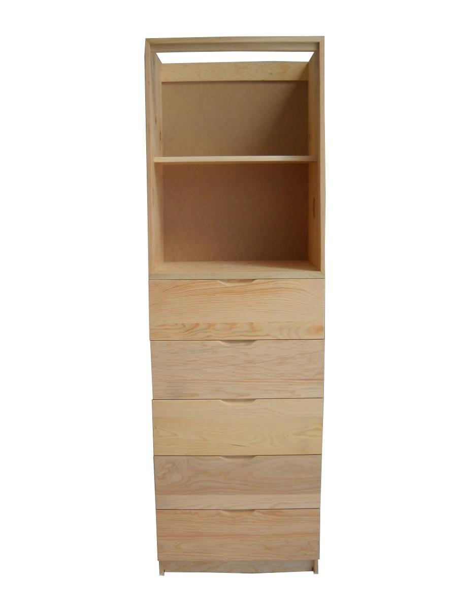 Gabinete de 5 cajones 2 entrepa os en pino para closet for Modelos de zapateras en closet