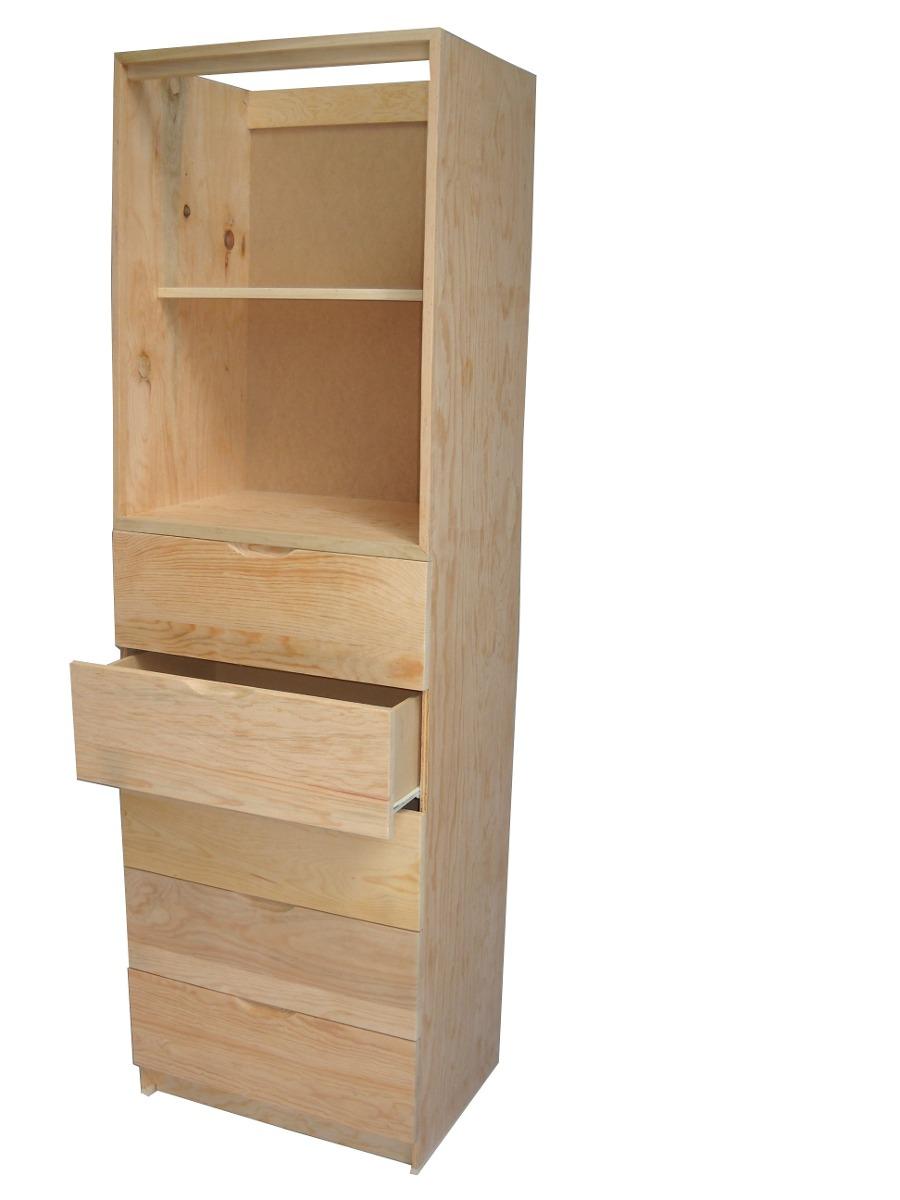 Gabinete de 5 cajones 2 entrepa os en pino para closet for California closets mexico
