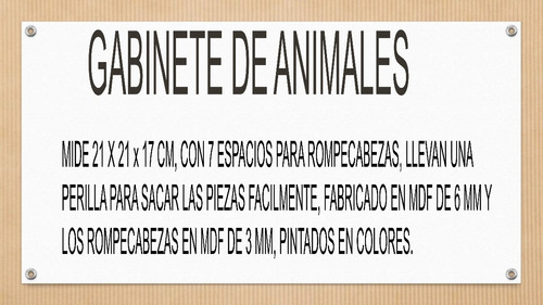gabinete de animales montessori