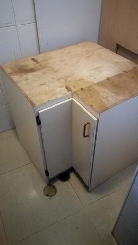 gabinete de cocina esquinero aereo o piso formica