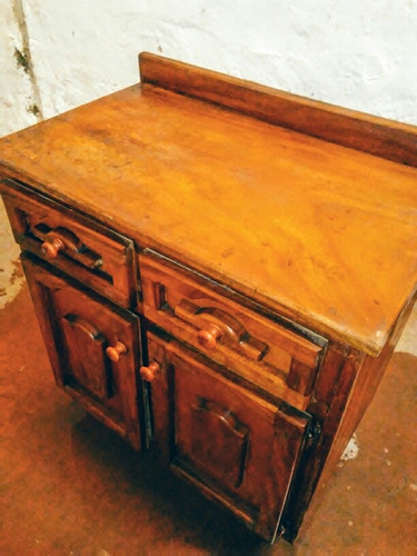 gabinete de cocina madera de saman (2 gavetas+alacena)