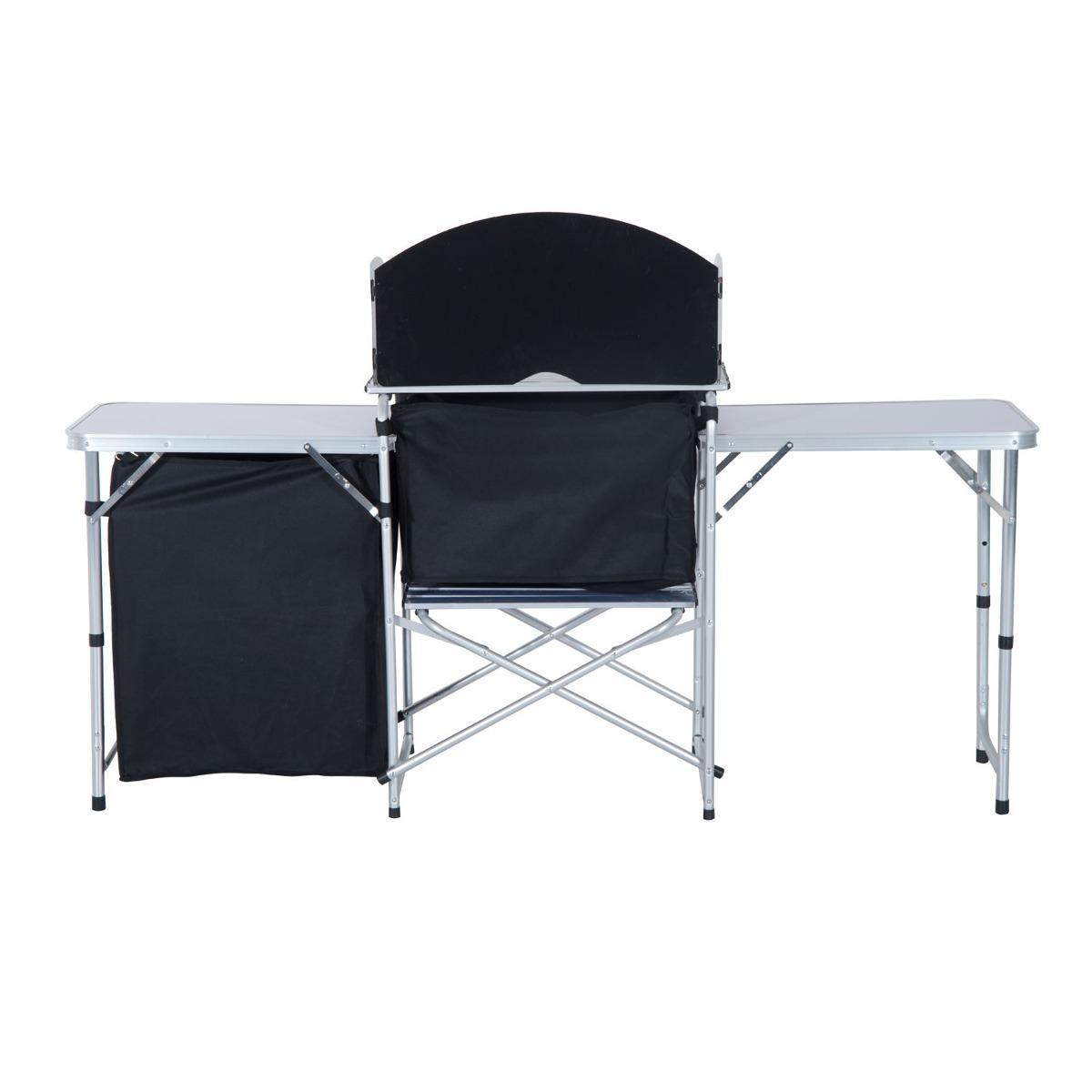 Gabinete De Mesa Picnic De Cocina Camping Plegable Armario - $ 1.129 ...