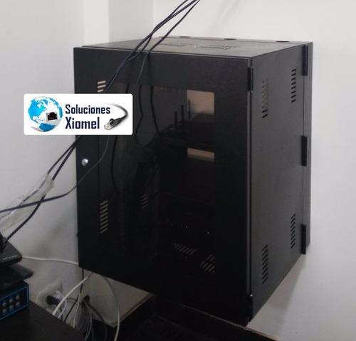 gabinete de pared de 10ru 0.50 x 0.60 x 0.51 acero laminado
