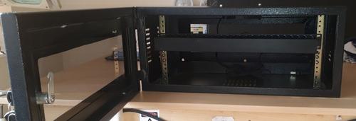 gabinete de pared de 4ru + ventilador+ ordenador.