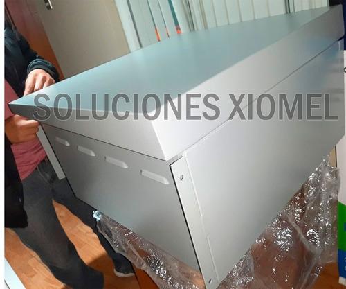gabinete de pared para exterior ip65 6ru acero laminado gris