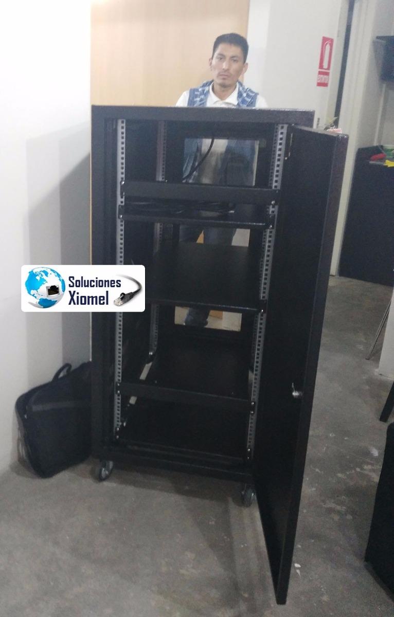 Gabinete de piso 42 ru metros acero laminado 4 ruedas for Gabinete de pared 10 ru