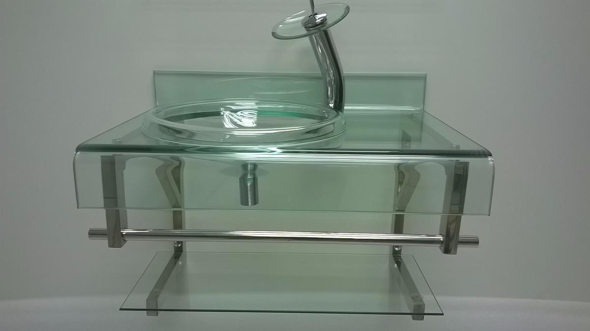 Gabinete De Vidro Incolor Para Banheiro De 70cm  R$ 879,00 em Mercado Livre -> Gabinete De Banheiro Vidro