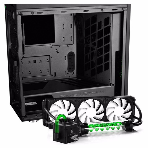 gabinete deep cool gamerstorm genome 2 con watercooling