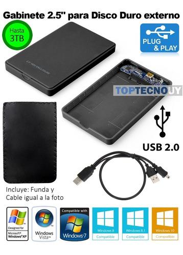gabinete externo discos duros sata de 2.5 usb 2.0 + funda ®
