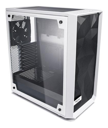 gabinete fractal design meshify c tg blanco vidrio templado!