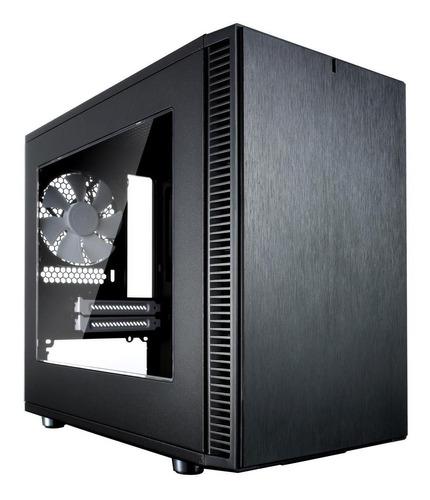gabinete fractal design nano s window, atx