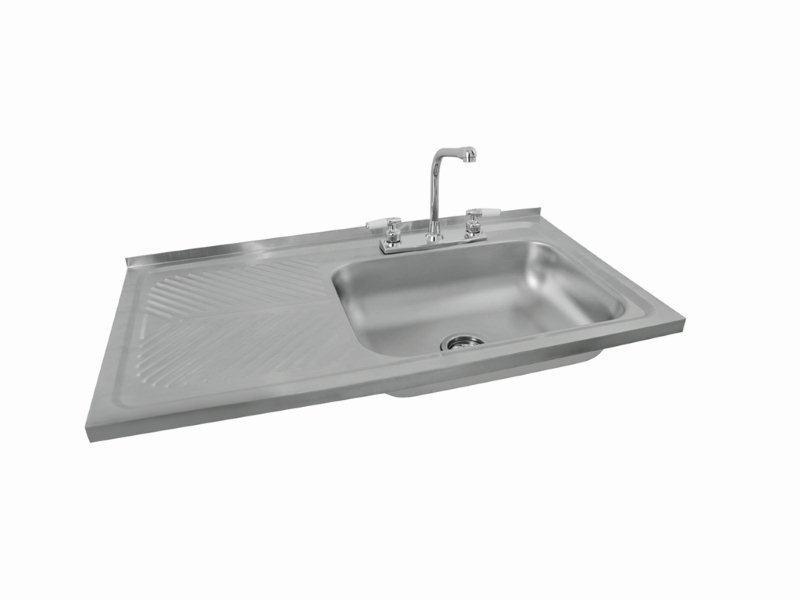 Gabinete fregadero con accesorios eb tecnica de 100 cm for Accesorios fregadero