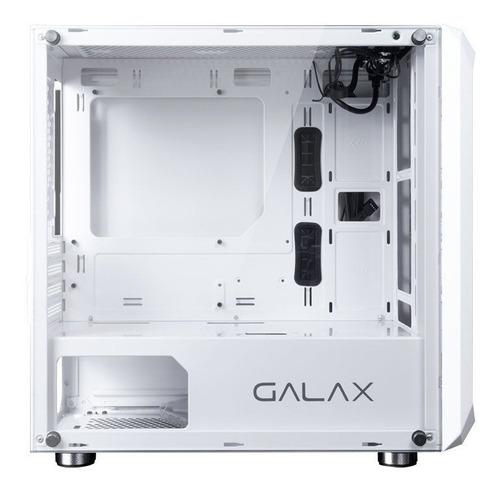 gabinete galax nebulosa branco gx700 vidro - novo
