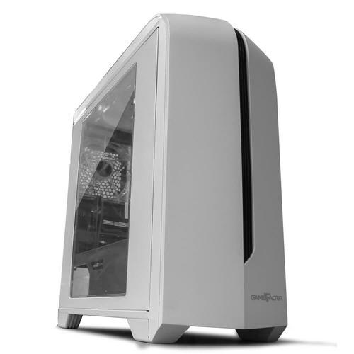 gabinete game factor csg500 blanco atx usb 3.0 audio hd