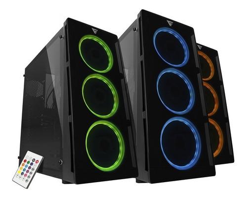 gabinete game factor csg501 rgb 3 ventiladores rgb inc.contr