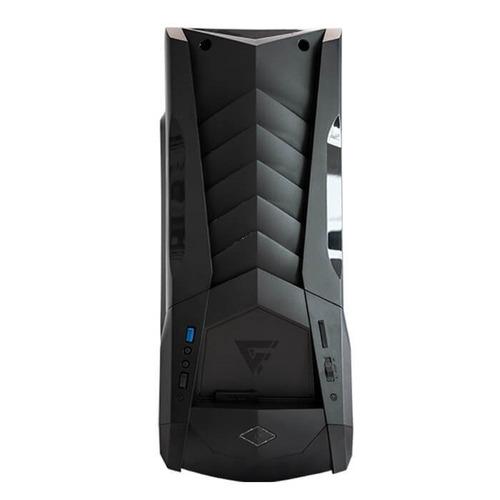 gabinete game factor csg600 black / ventilador led / atx