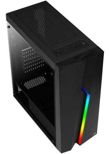 gabinete gamer aerocool bolt rgb atx acrilico media torre
