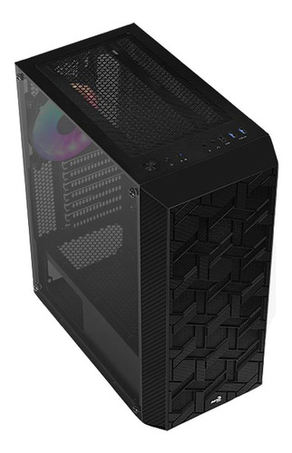 gabinete gamer aerocool hive frgb v.3 black rgb media torre