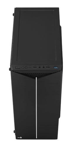 gabinete gamer aerocool split g rgb con tapa acrílico y fan
