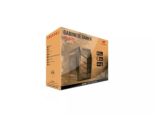 gabinete gamer c3 tech mt-g70 bk sem fonte