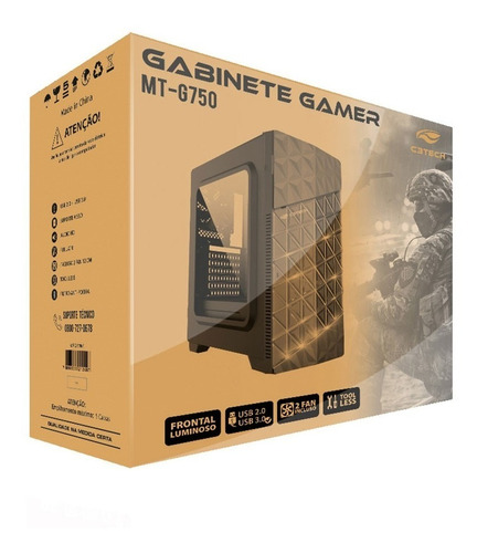 gabinete gamer c3tech mt-g750bk