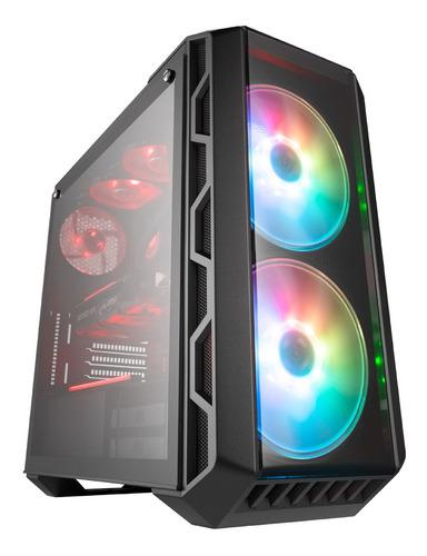 gabinete gamer cooler master mastercase h500 argb negro