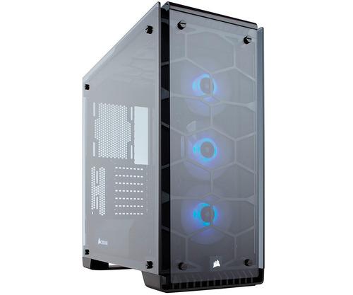 gabinete gamer corsair crystal 570x rgb cc-9011098-ww