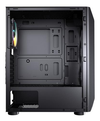 gabinete gamer cougar mx410-t rgb lat. vidro - com garantia
