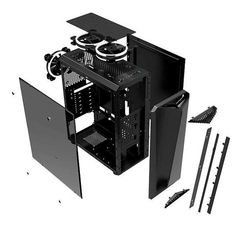 gabinete gamer liketec lighting rgb - 12x sem juros