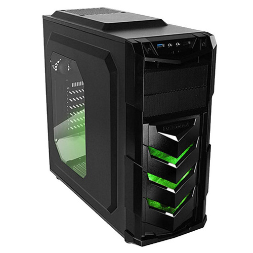 gabinete gamer raidmax vortex v4 verde 404wb usb 3.0