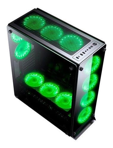 gabinete gamer redragon ironhide vidro temp rgb rd-gc-801s/f
