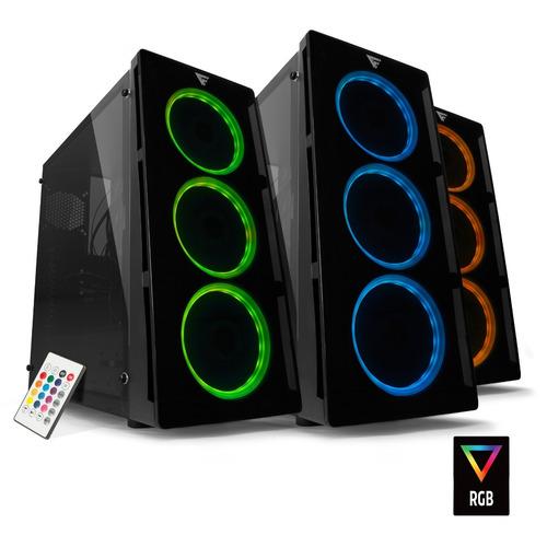 gabinete gamer rgb atx micro atx mini itx game factor csg501
