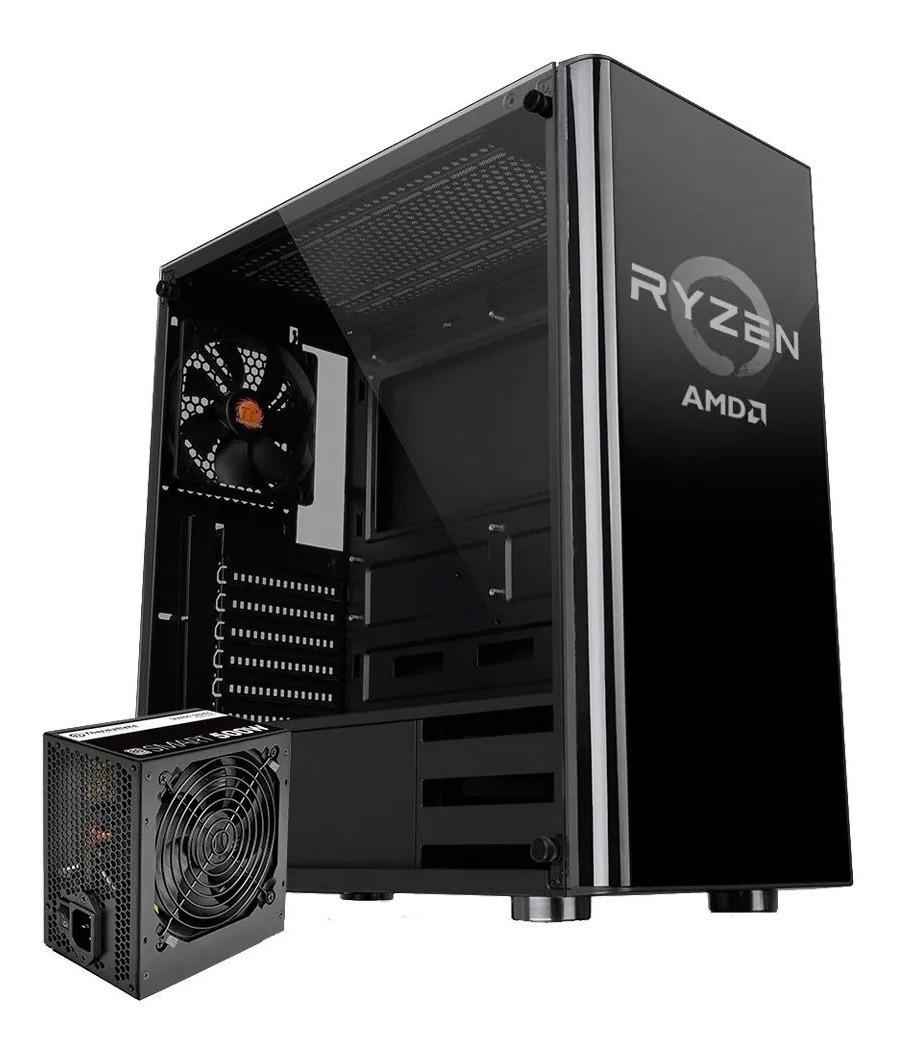 THERMALTAKE TT ESPORTS V200 RYZEN AMD EDITION C/FUENTE BLACK (CA-3K8-50M1WG-01)