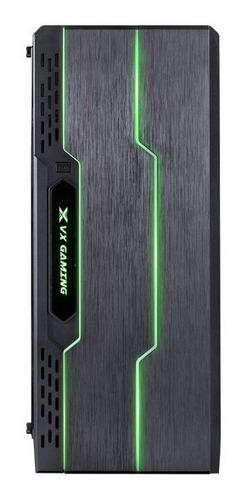 gabinete gamer tron preto led 7 cores lado acrílica usb 3.0