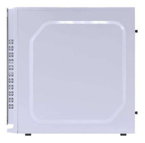 gabinete gamer vinik crater branco com led azul - 12x s/j