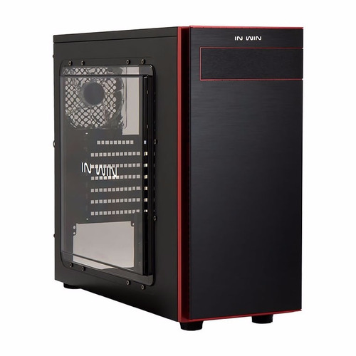 gabinete in win 703 black/red mid-tower atx sin fuente pc