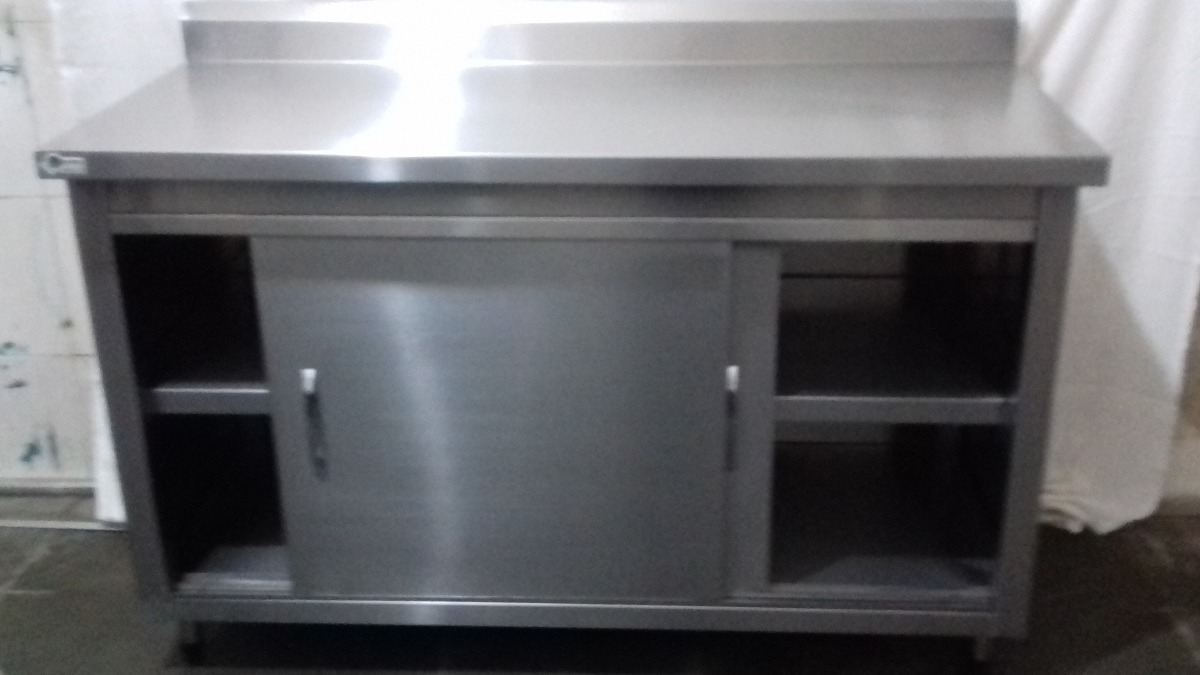 Gabinete Inox Para Cozinha Industrial R 1 450 00 Em Mercado Livre