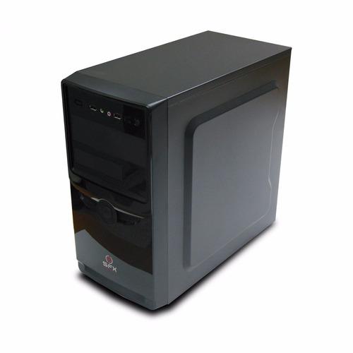 gabinete kit atx con fuente, teclado mouse y parlantes sfx