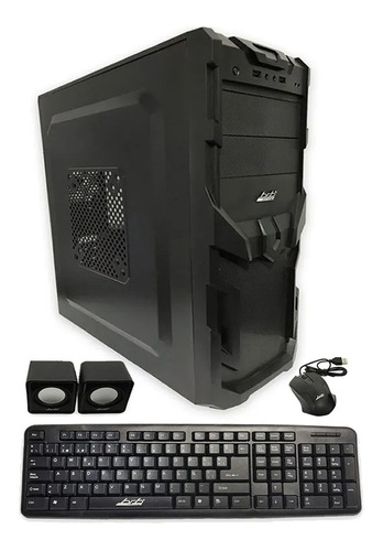 gabinete kit pc gamer brb atx 550w teclado mouse parlantes