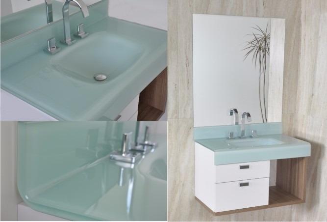 Gabinete Lavatório Para Banheiro Bergan Stetiun 80cm  R$ 1629,99 em Mercado -> Decoracao Banheiro Salmao